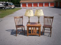 MID-CENTURY ACORN LAMP SET OF 2, HAND-PAINTED in Camp Lejeune, North Carolina
