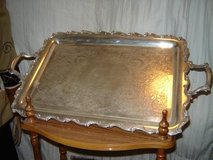 Silver Serving Tray Heavy w/Handles in Alamogordo, New Mexico